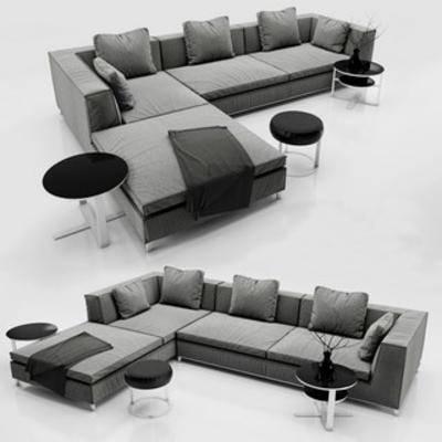 北欧沙发, 北欧多人沙发, 北欧沙发组合, 北欧边几, 沙发边几组合, 北欧, 下得乐3888套模型合辑