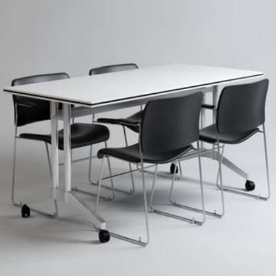 桌椅组合, 现代桌椅, 现代办公桌, 办公桌椅, 办公桌椅组合, 国外模型, 现代, 下得乐3888套模型合辑