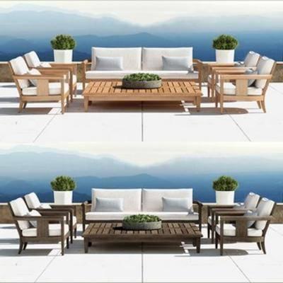 沙发茶几, 现代简约沙发, 现代沙发茶几, 现代简约茶几, 现代, 下得乐3888套模型合辑