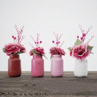 现代植物花瓶装饰品组合