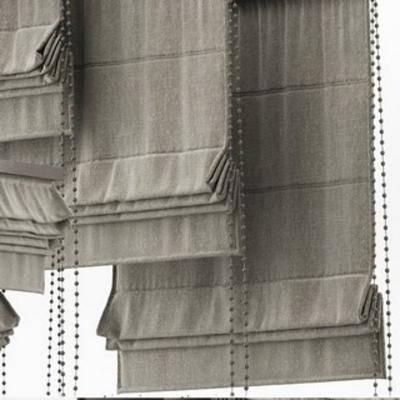 现代窗帘, 现代布艺折帘, 布艺折帘, 现代折帘, 窗帘, 现代简约