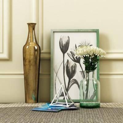 装饰品组合, 现代装饰品, 装饰品, 现代风格, 下得乐3888套模型合辑