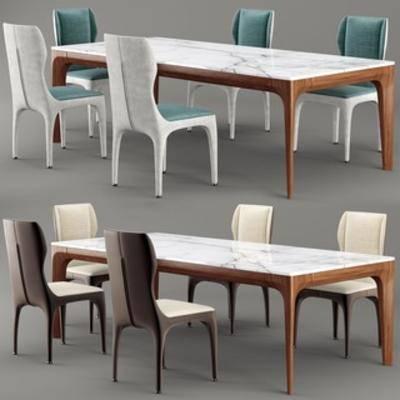 桌椅组合, 北欧桌椅, 北欧简约, 国外模型, 北欧, 下得乐3888套模型合辑