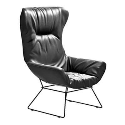 皮艺单人椅, 北欧单人椅, 北欧简约, 单人椅, 现代椅子