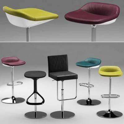 吧椅组合, 现代吧椅, 吧椅, 现代简约