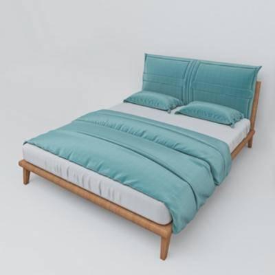 北欧双人床, 布艺床具, 北欧简约