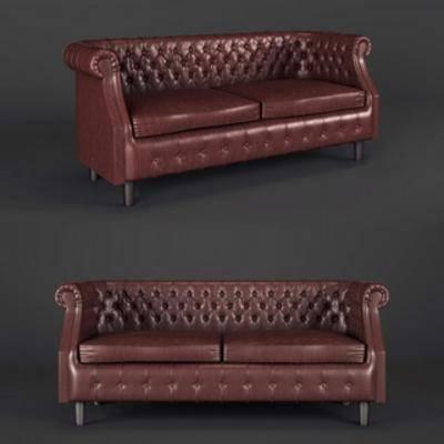 美式皮艺沙发, 美式古典, 皮艺沙发, 美式沙发
