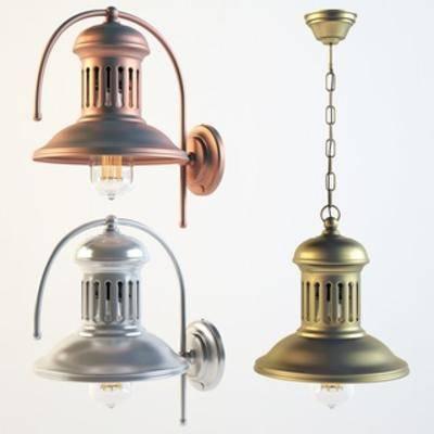 工业风壁灯, 工业风吊灯, 工业风, 灯具