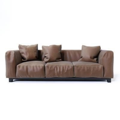 皮艺沙发, 现代简约, 多人沙发, 现代沙发