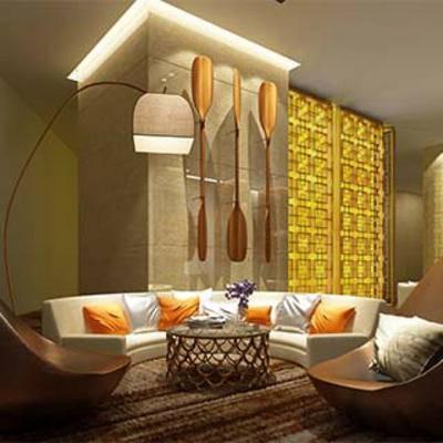 现代风格, 接待厅, 会客厅, 酒店会客厅
