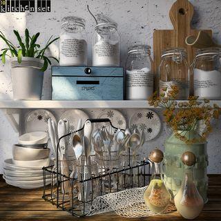 厨房用具摆设品组合