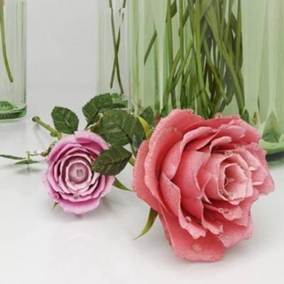 现代, 盆栽, 花瓶, 鲜花