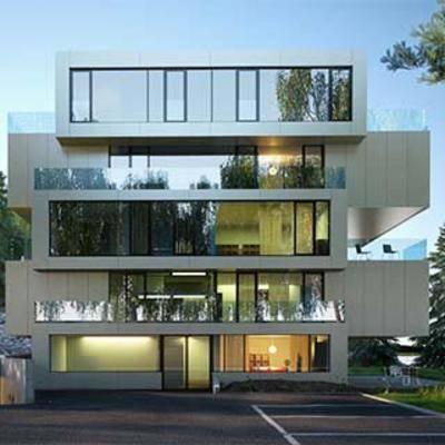 建筑室外空间, 时尚, 别墅