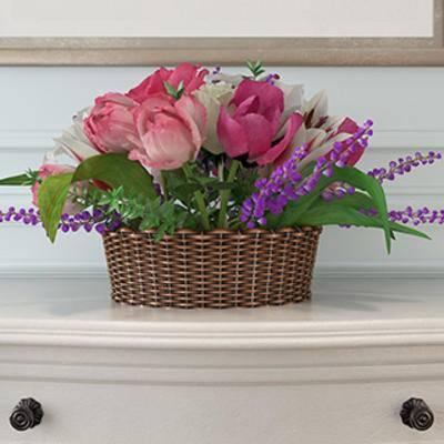 摆设品, 鲜花植物, 鲜花装饰品, 鲜花篮