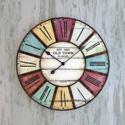 工业风时钟挂钟, 摆设, 装饰