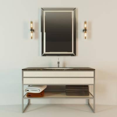 现代风格洗手台, 时尚, 简约