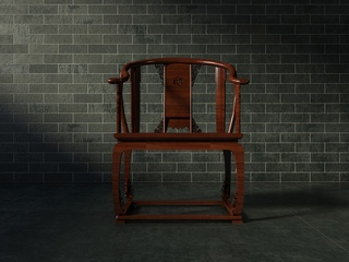 中式实木单人椅