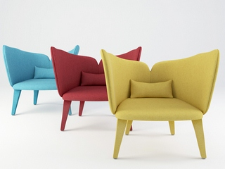 时尚,现代简约单人椅,舒适