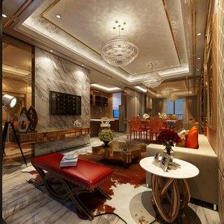 茶几组合,奢华,灯,欧式简约风格客厅