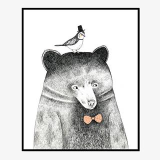 欧式简约装饰画—动物