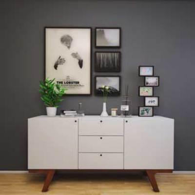 书, 花瓶, 挂画, 装饰画组合, 植物摆设, 下得乐3888套模型合辑