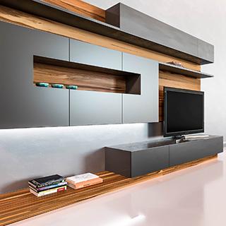 现代简约电视柜墙