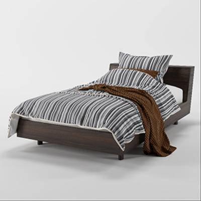 北欧双人床, 布艺床具, 北欧简约, 双人床