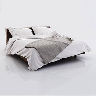 北欧简约双人床, 舒适, 时尚, 北欧简约