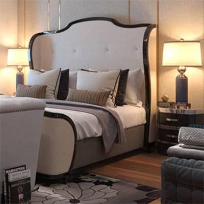 美式现代, 床具组合, 双人床