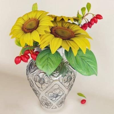 向日葵, 植物花瓶摆设品, 花