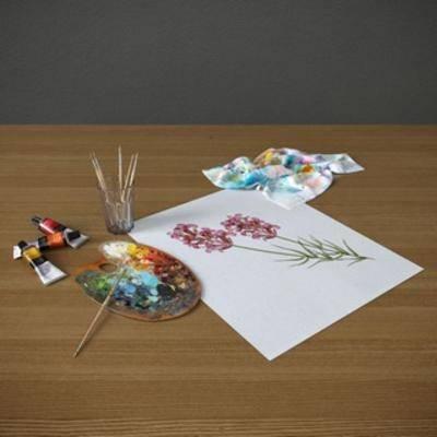 颜料, 美术用具, 画笔, 画具, 现代, 纸, 下得乐3888套模型合辑
