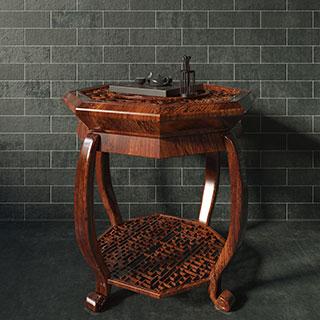 中式风格八角桌子