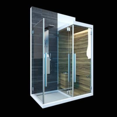 淋雨桑拿房, 洗澡房, 现代