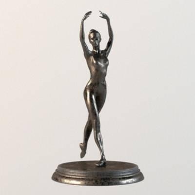 铜雕, 摆设品, 雕塑, 现代, 扮家家-积分兑换300套模型【一】