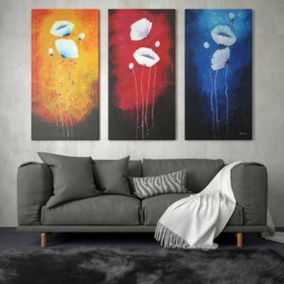 多人沙发, 北欧沙发, 组合, 装饰画, 装饰画组合, 北欧, 下得乐3888套模型合辑