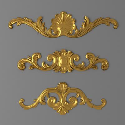 构件, 金属雕花, 欧式