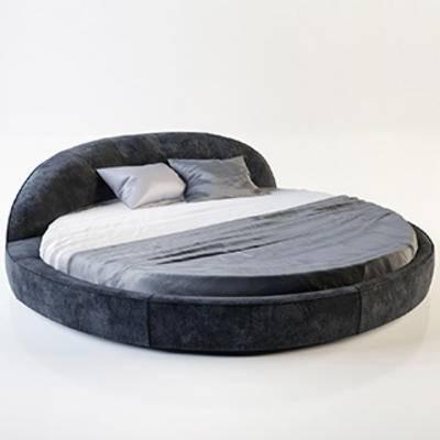 国外模型, 圆形双人床, 双人床, 现代简约