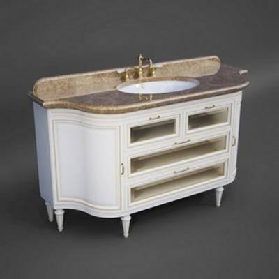 洗手台, 美式风格