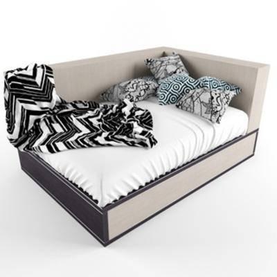 国外模型, 休闲床, 现代简约