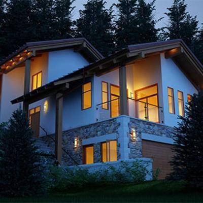 室外空间, 建筑, 住宅, 别墅