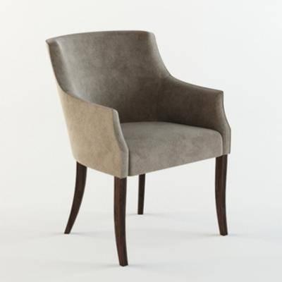 国外模型, 单人椅, 现代椅子, 简约, 美式风格