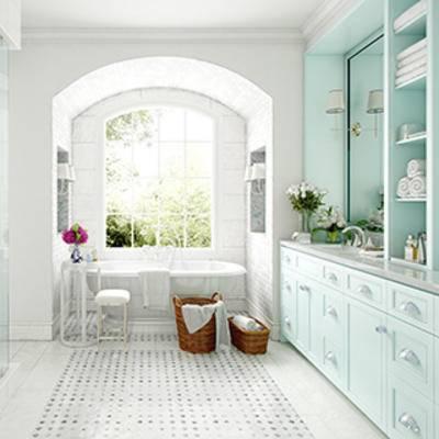 摆设品, 陈设品, 洗手台, 田园, 边柜, 卫生间, 美式风格