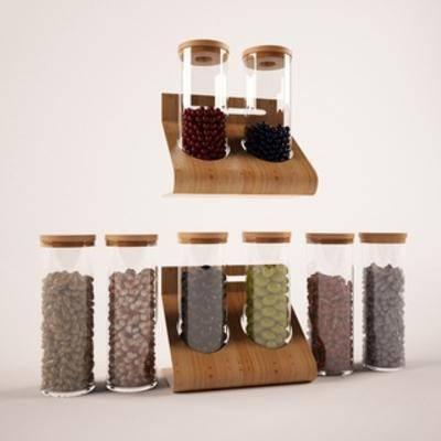 国外模型, 调料瓶, 食材, 食品