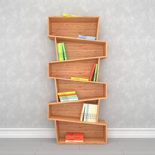 现代简约实木书柜