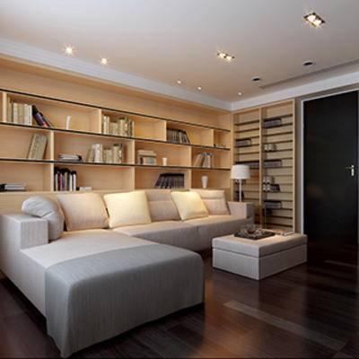 灯, 书, 书房, 书柜, 陈列品, 现代简约, 沙发茶几组合
