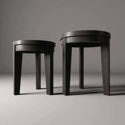 实木, 凳子, 现代简约, 现代简约凳子