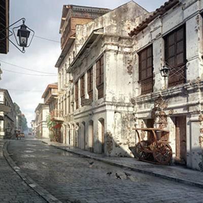民房, 街道, 室外空间, 建筑, 住宅