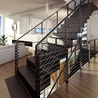 现代简约楼梯过道