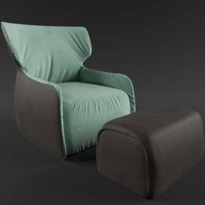 国外模型, 休闲, 北欧沙发, 现代简约, 单人沙发, 沙发椅