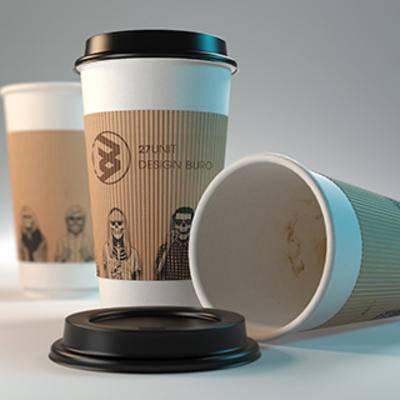 纸杯, 咖啡杯, 现代